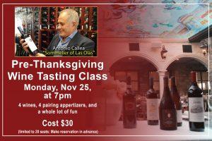 Pre-Thanksgiving Wine Tasting